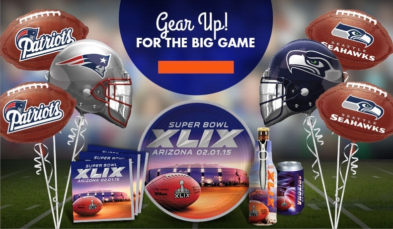 party city super bowl supplies