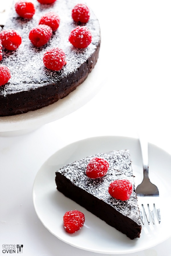3-Ingredient Flourless Chocolate Cake