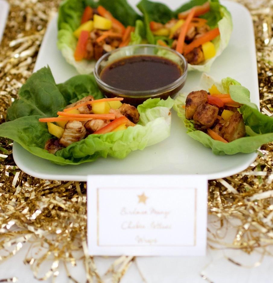 Birdman Mango Chicken Lettuce Wraps