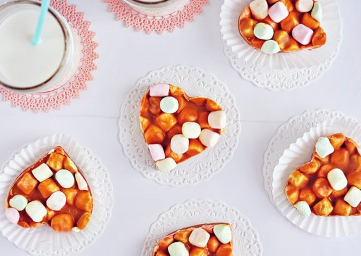 Butterscotch Peanut Butter Marshmallow Hearts