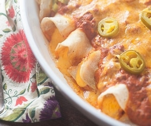 Chili Cheese Enchiladas featured