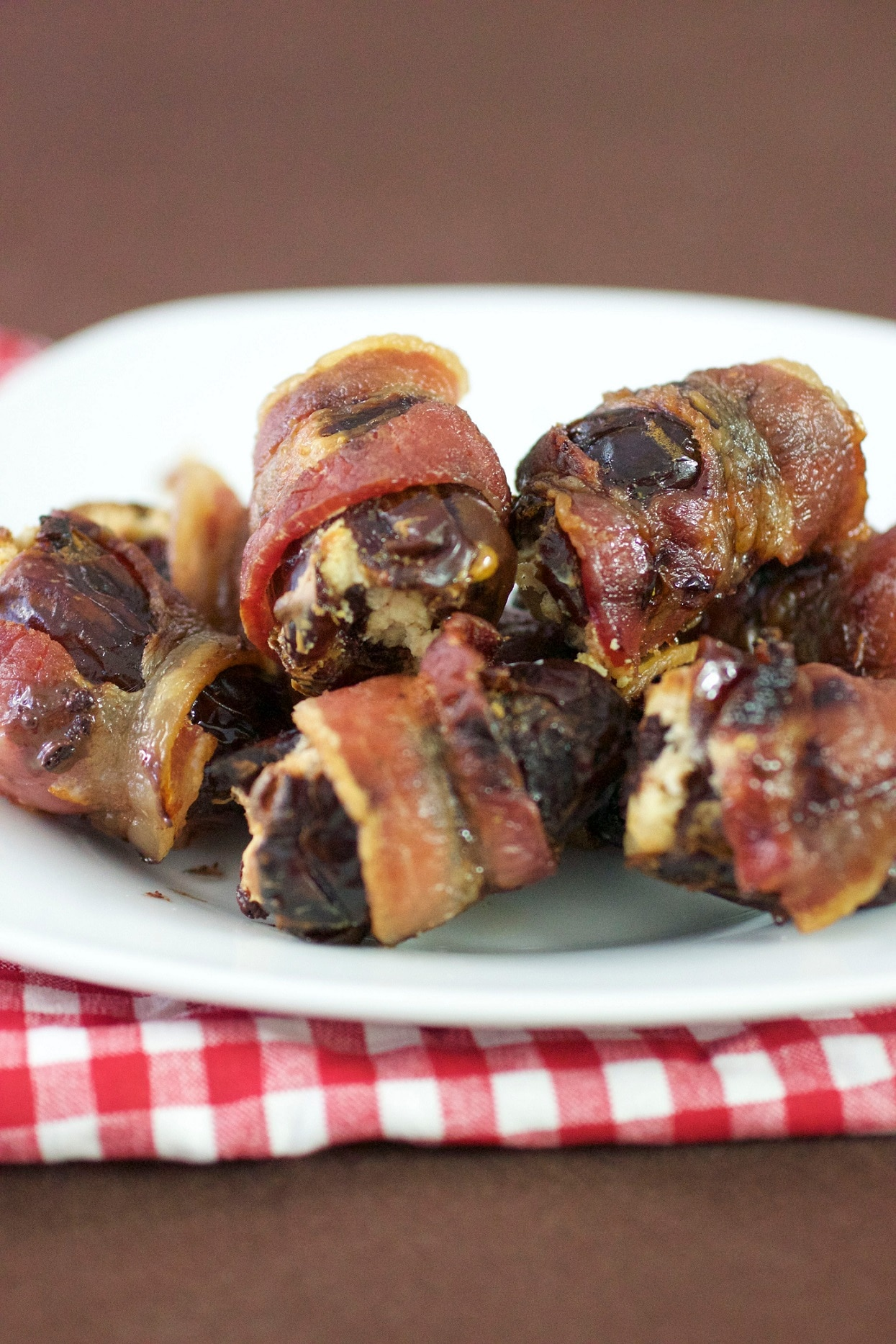 Cocoa Chile Bacon Wrapped Dates