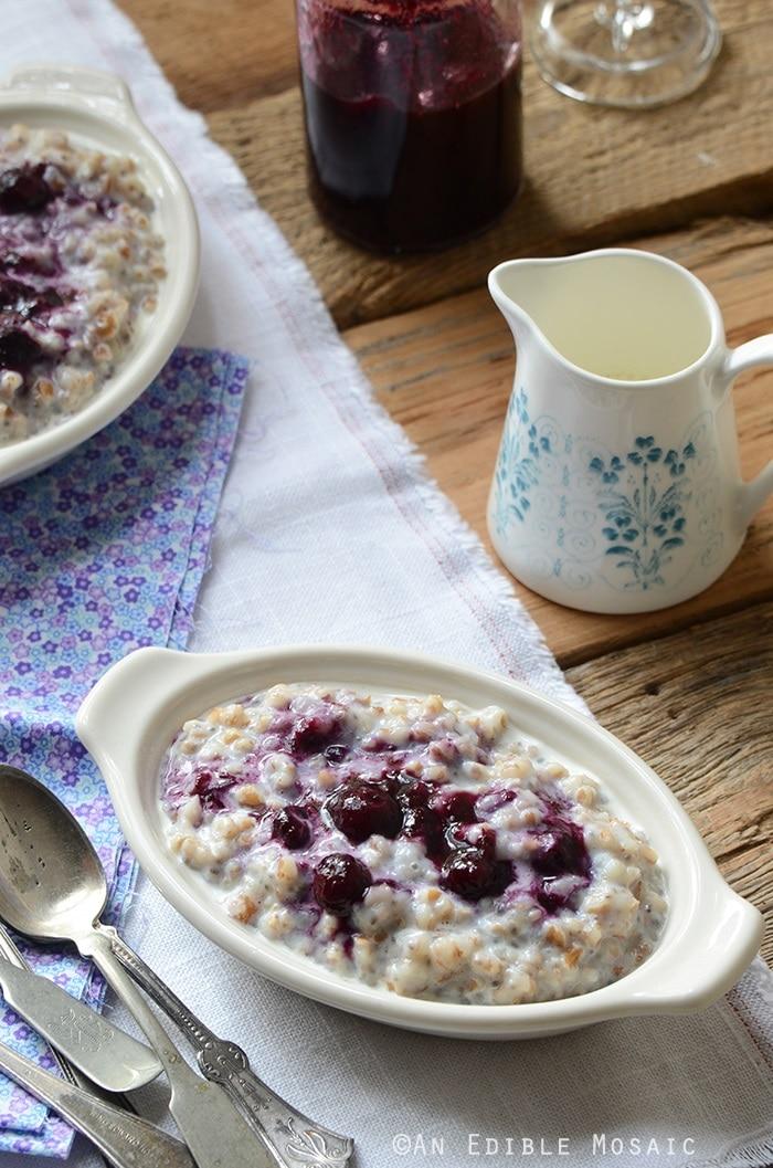 Creamy Wheat Berry Porridge