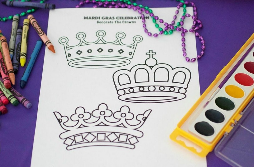Mardi Gras Coloring Sheet