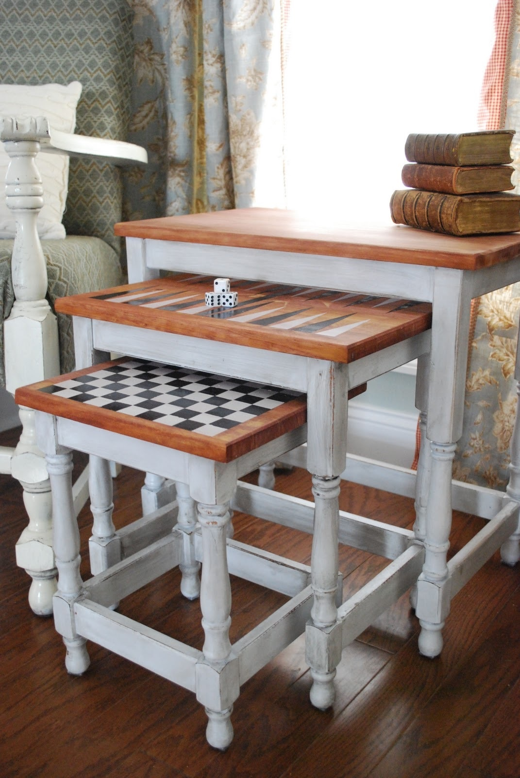 Nesting Board Game Tables