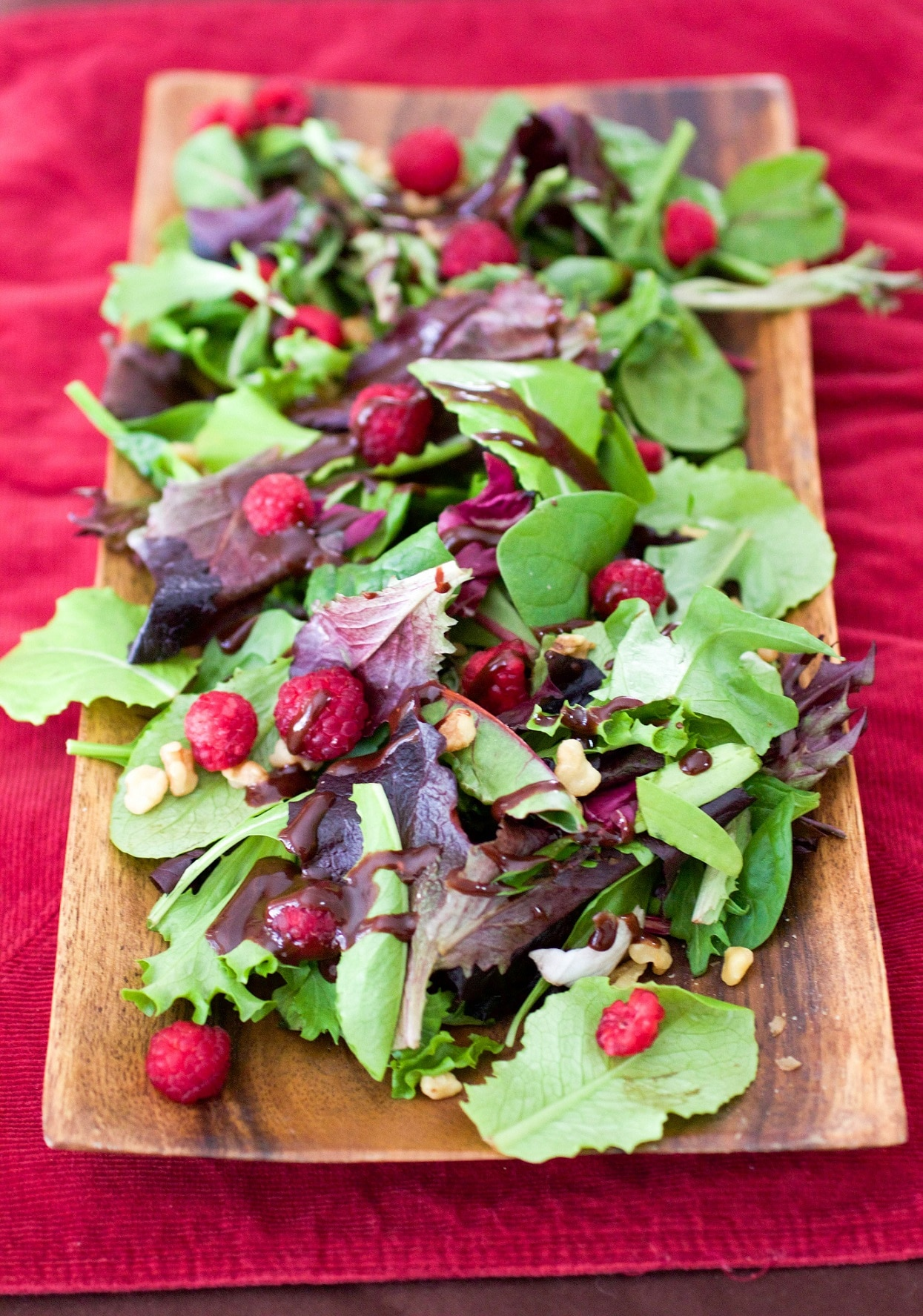 Salad with Chocolate Balsamic Vinaigrette