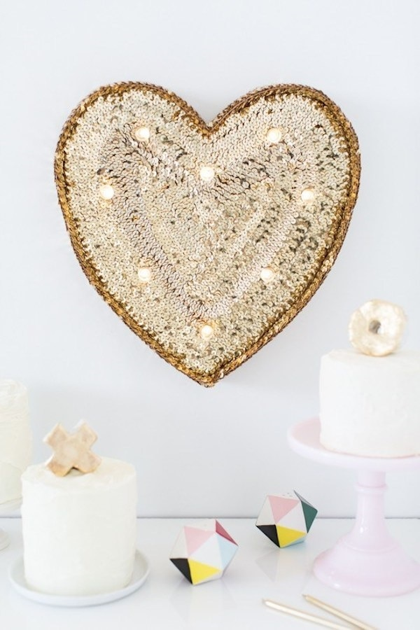 Sequin Marquee Heart