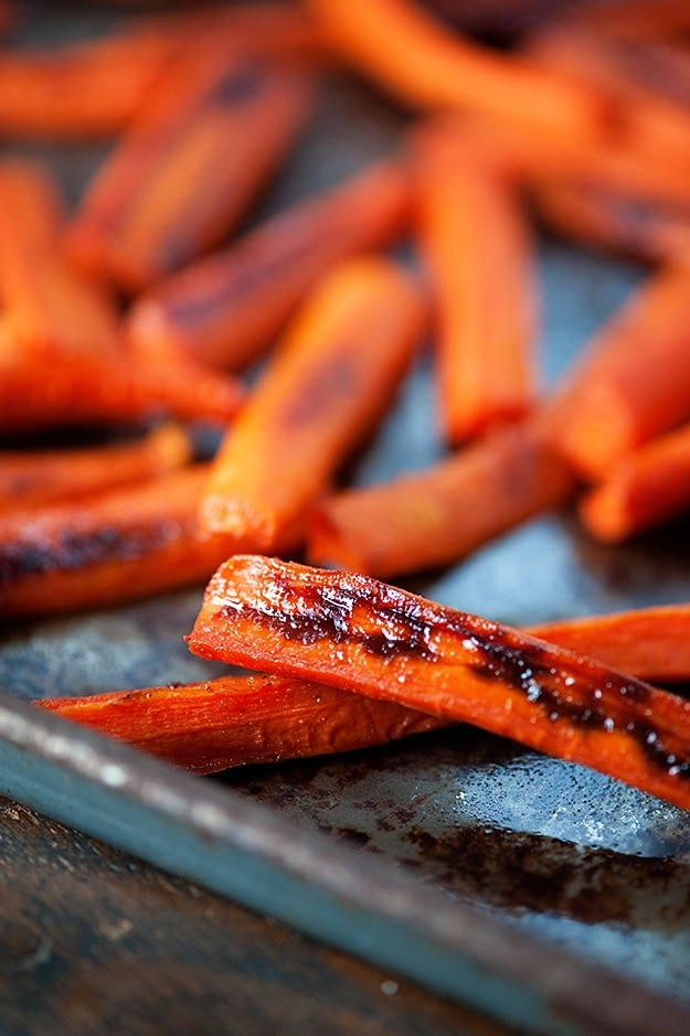 Spicy Maple Glazed Carrots