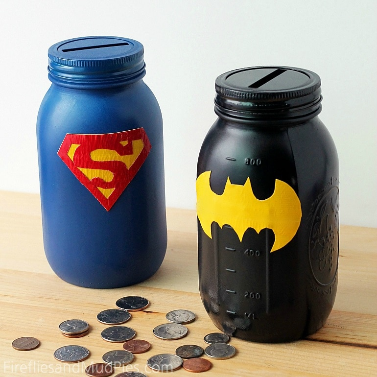 Superhero Mason Jar