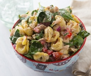 Tuna Tortellini Salad featured