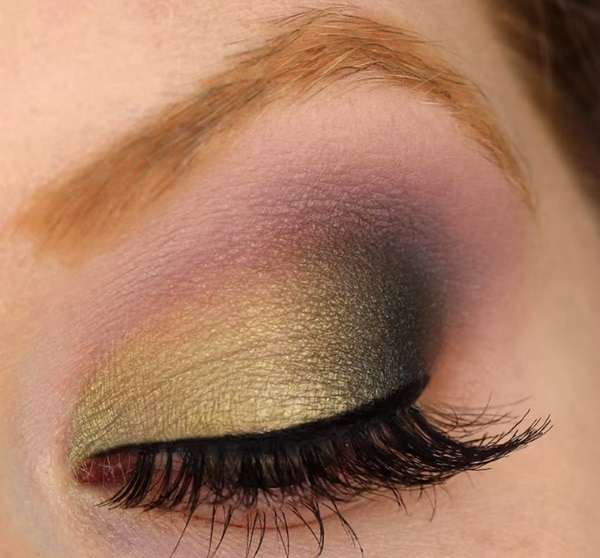 Wearable Mardi Gras Eye Makeup
