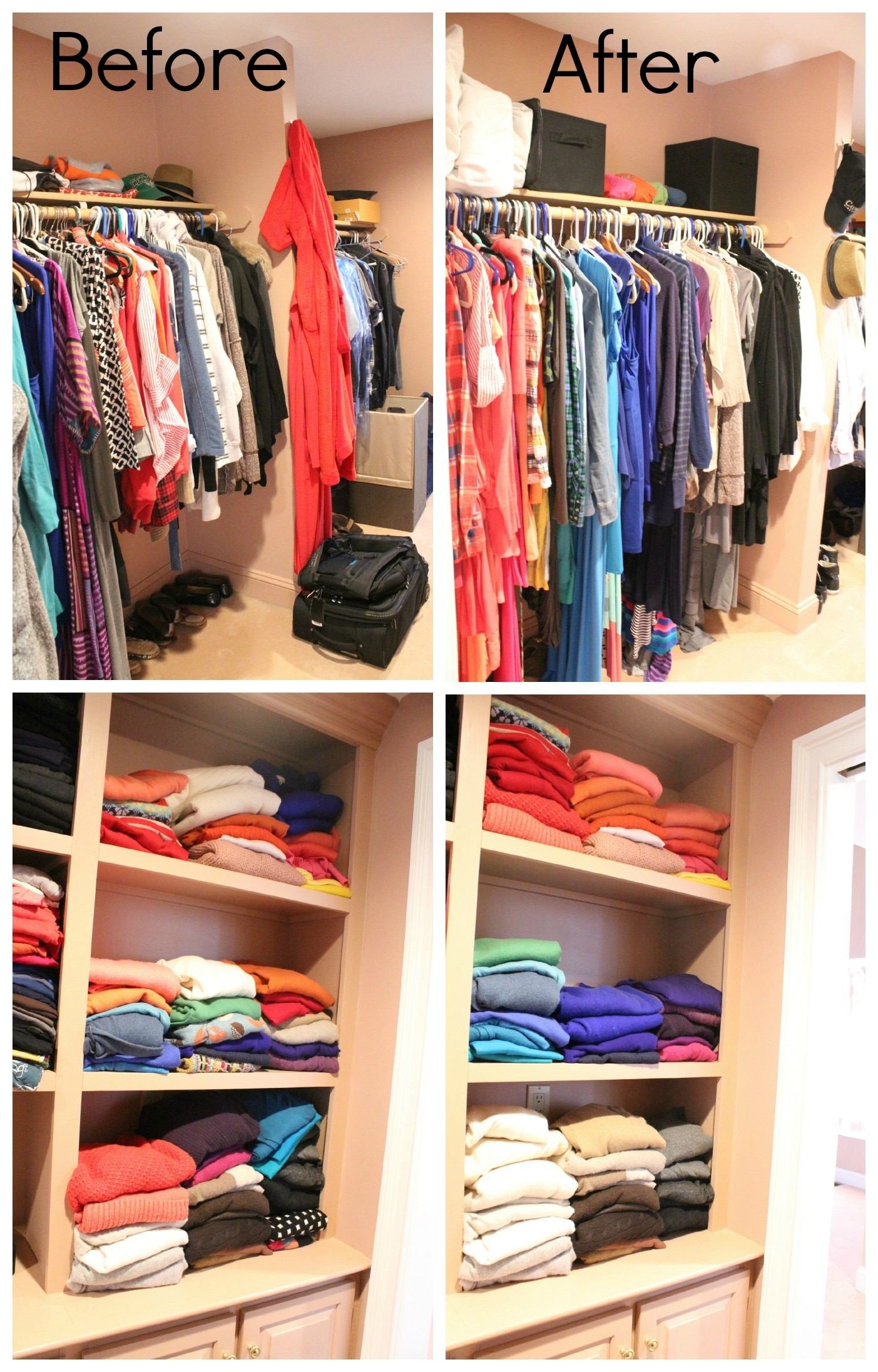 Organizing Clothes Closet Ideas Part - 46: Before And After By Colors