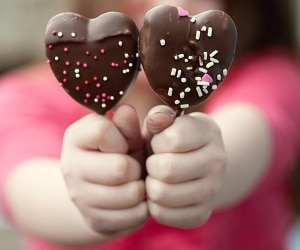 chocolate dipped Peeps hearts