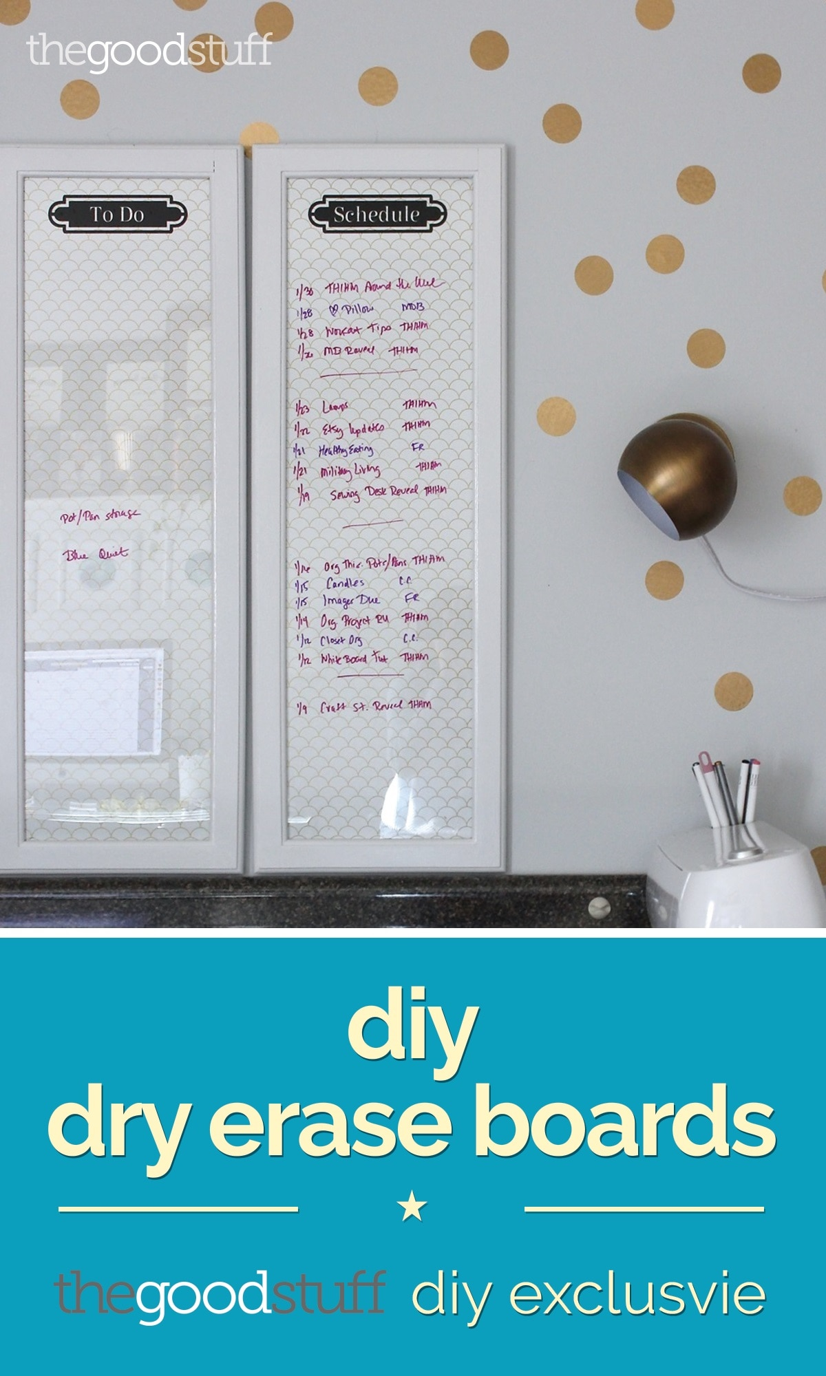 Dry Erase Boards From Old Frames Diy Exclusive Thegoodstuff