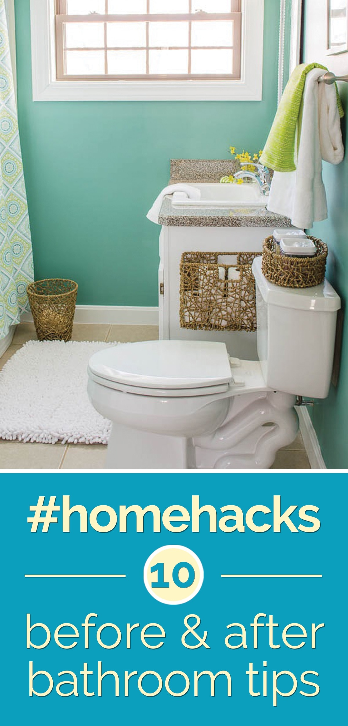 Diy bathroom ideas before and after the for Household hacks