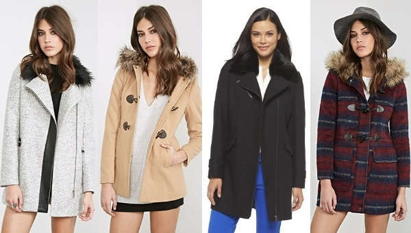 affordable coats under $100 - faux fur collars