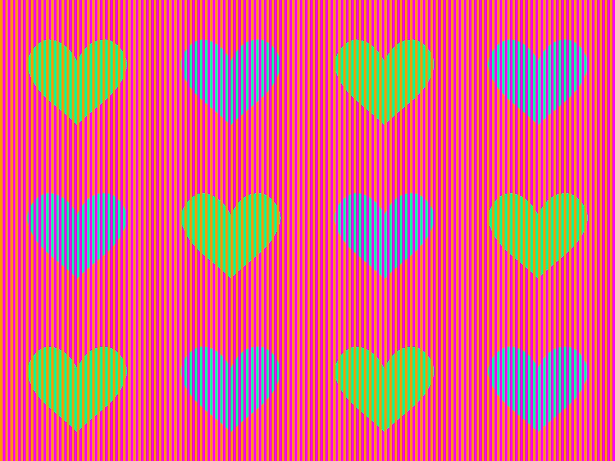 greenblueheartsstriped