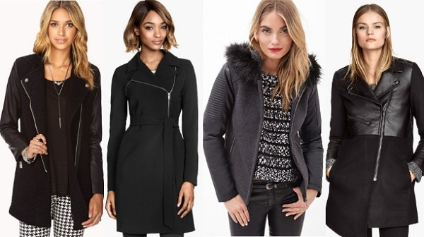 affordable coats under $100 - leathers and zippers