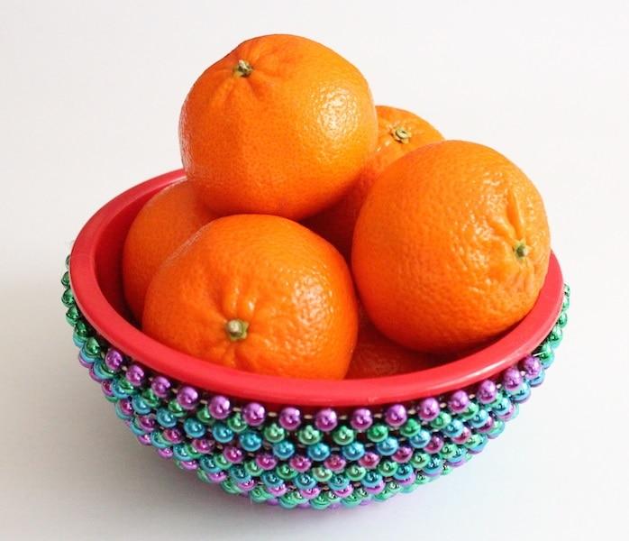 mardi gras bead bowl