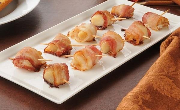 Bacon Wrapped Honey Mustard Scallops