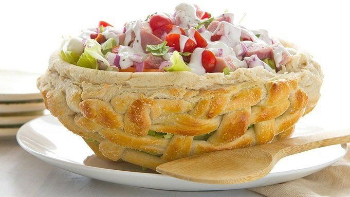 Butter Lettuce Salad in a Pretzel Easter Basket