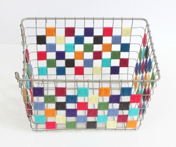 Checkered Yarn Bin