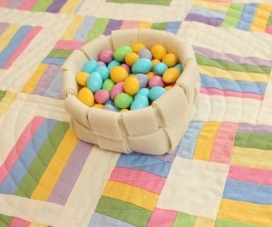 Easter Woven Felt Basket featured
