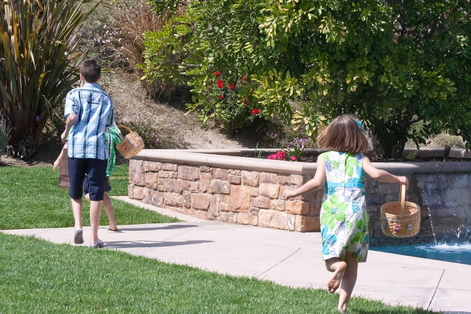 Easter party egg hunt