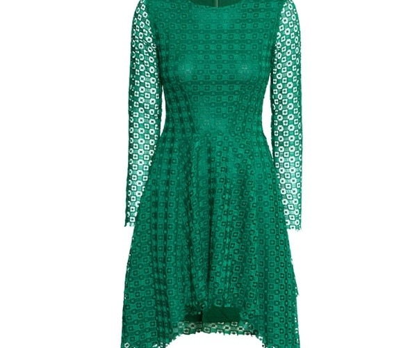 Green Asymmetric Dress