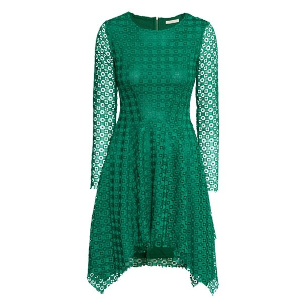 Green Asymmetric Dress
