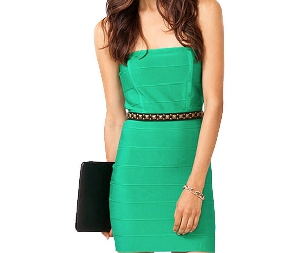 Green Bandage Bodycon Dress