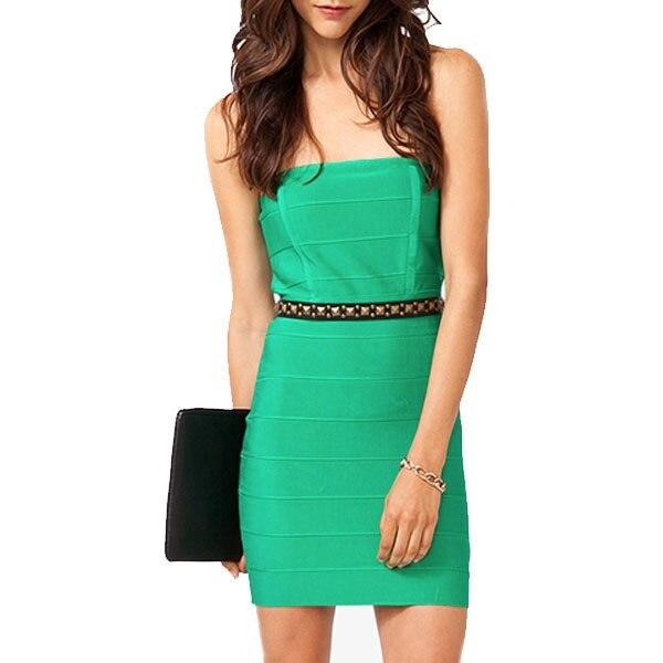 Green Bandage Bodycon Dress