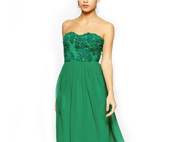 Green Bandeau Dress