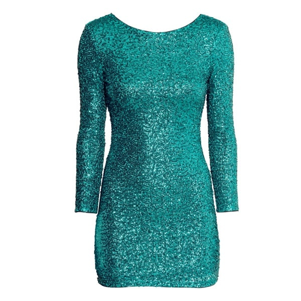 Green Sequined Dress