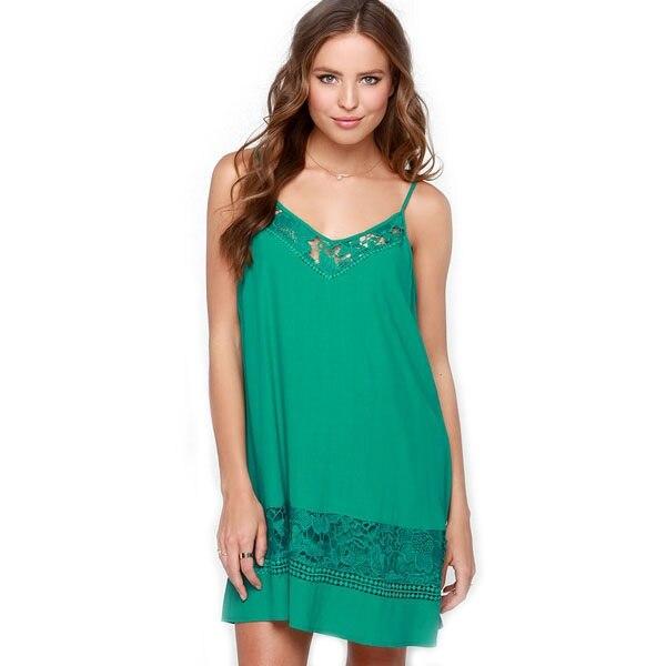 Green Sexy Slip Dress