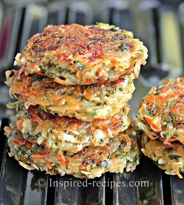 Homemade Hash Browns With Carrots and Spinach