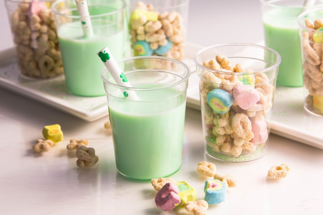 Lucky Charms Milk Shots