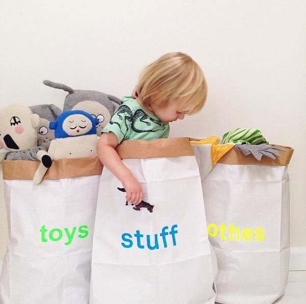 Paper Bag Bins