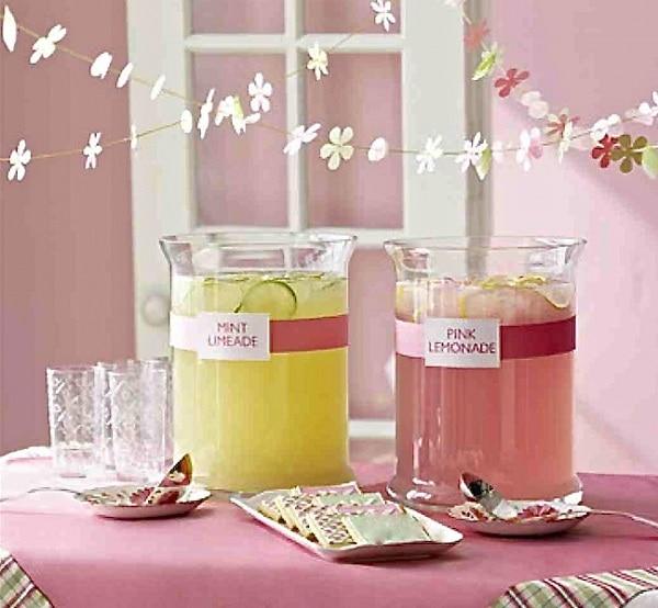 Pink Mint Mocktails