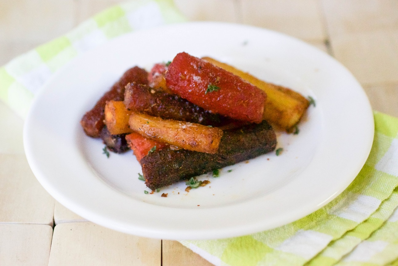 Spiced Carrots with Yogurt Topping