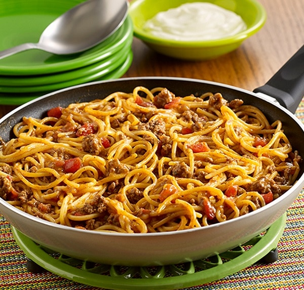 Taco Skillet Spaghetti