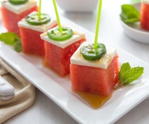 Watermelon Jalapeno cubes featured