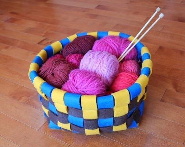 Woven Felt Basket