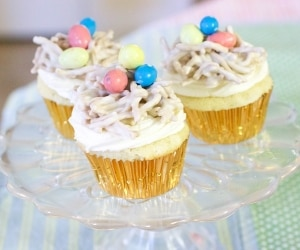 birds nest cupcakes featured