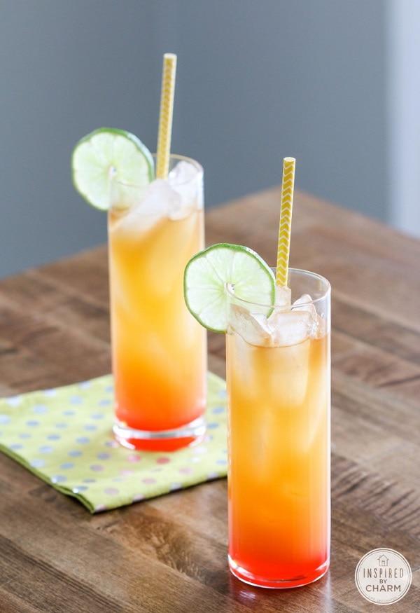 caribbean sunny rum punch