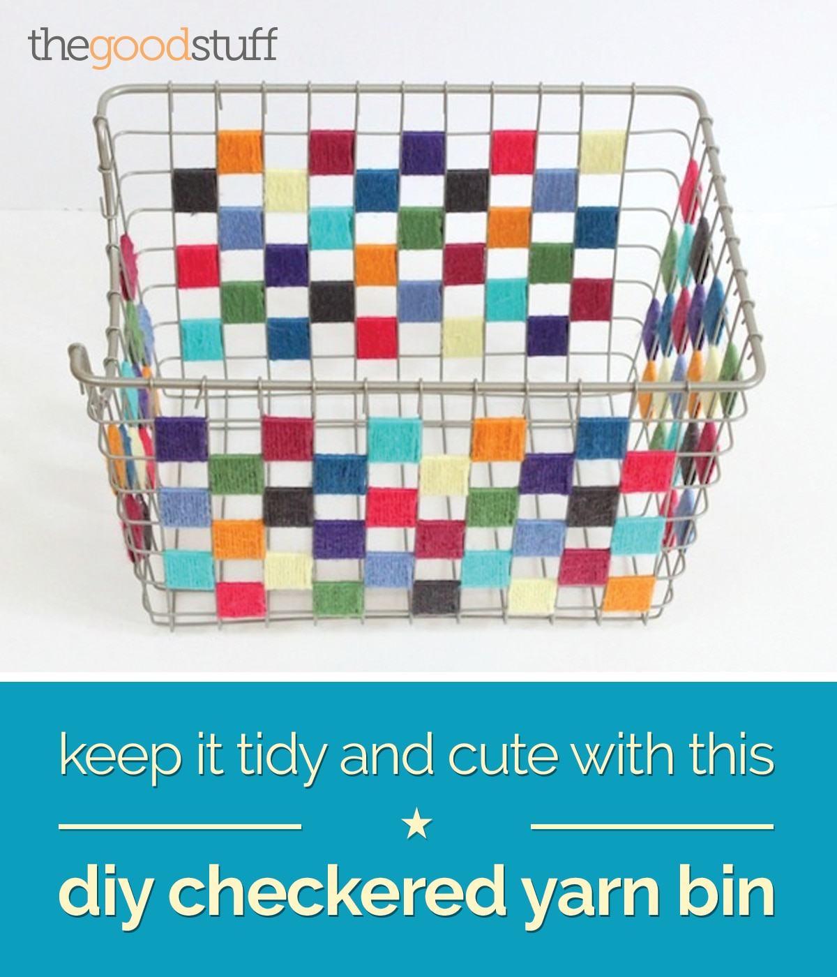 diy-checkered-yarn-bin