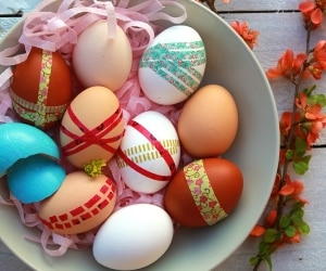 easter egg washi tape projects