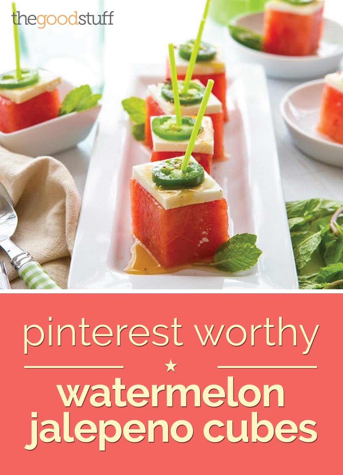 pinterest worthy watermelon jalapeno cubes