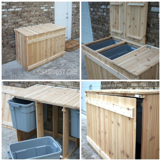 10 Wooden Recyling Sorter
