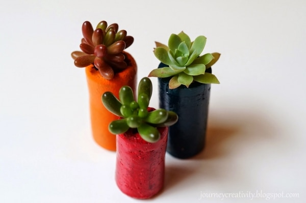 5. cork flower pots
